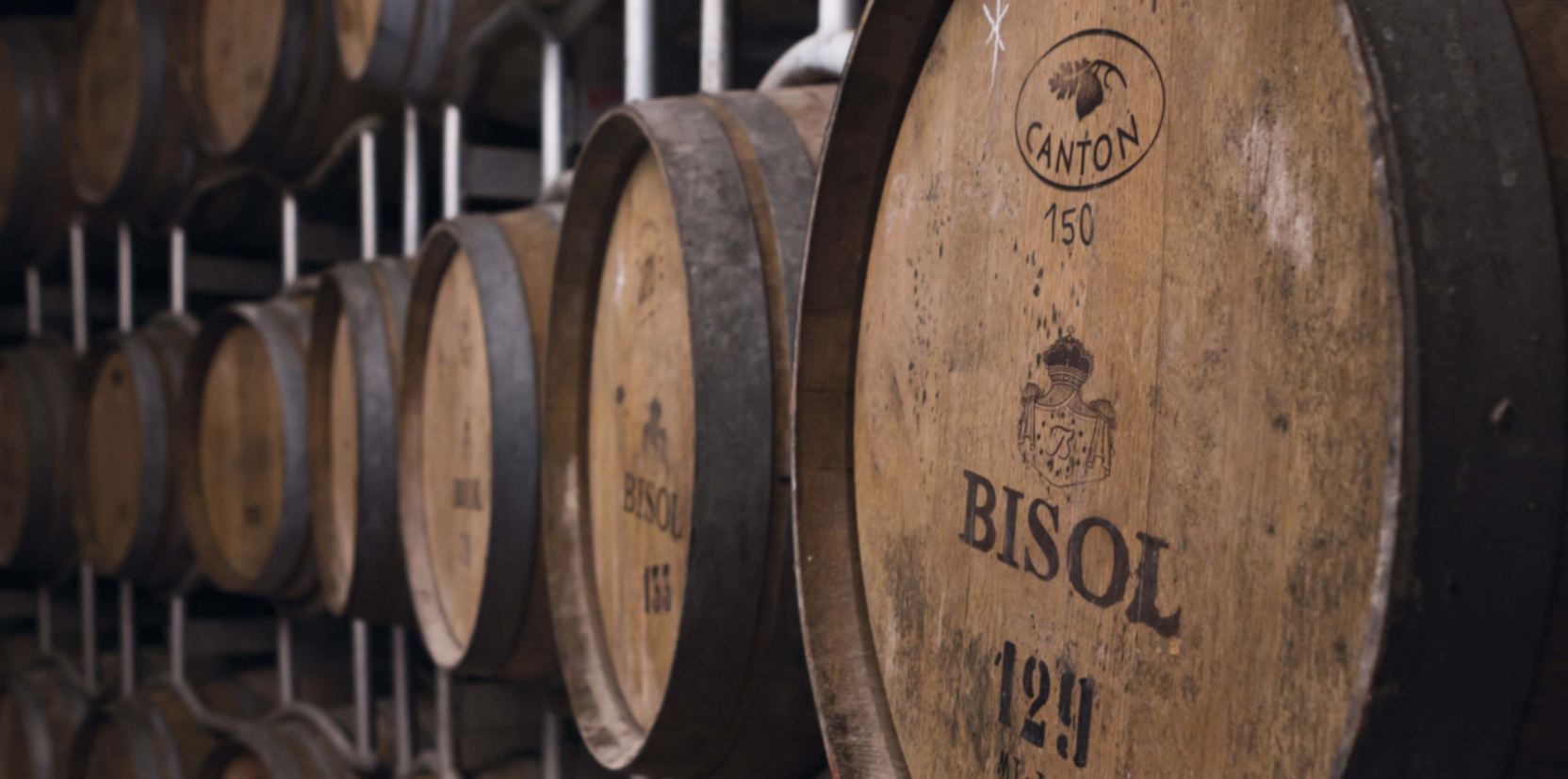 Barrels in the Bisol winery