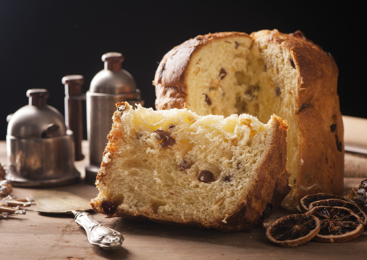A traditional panettone