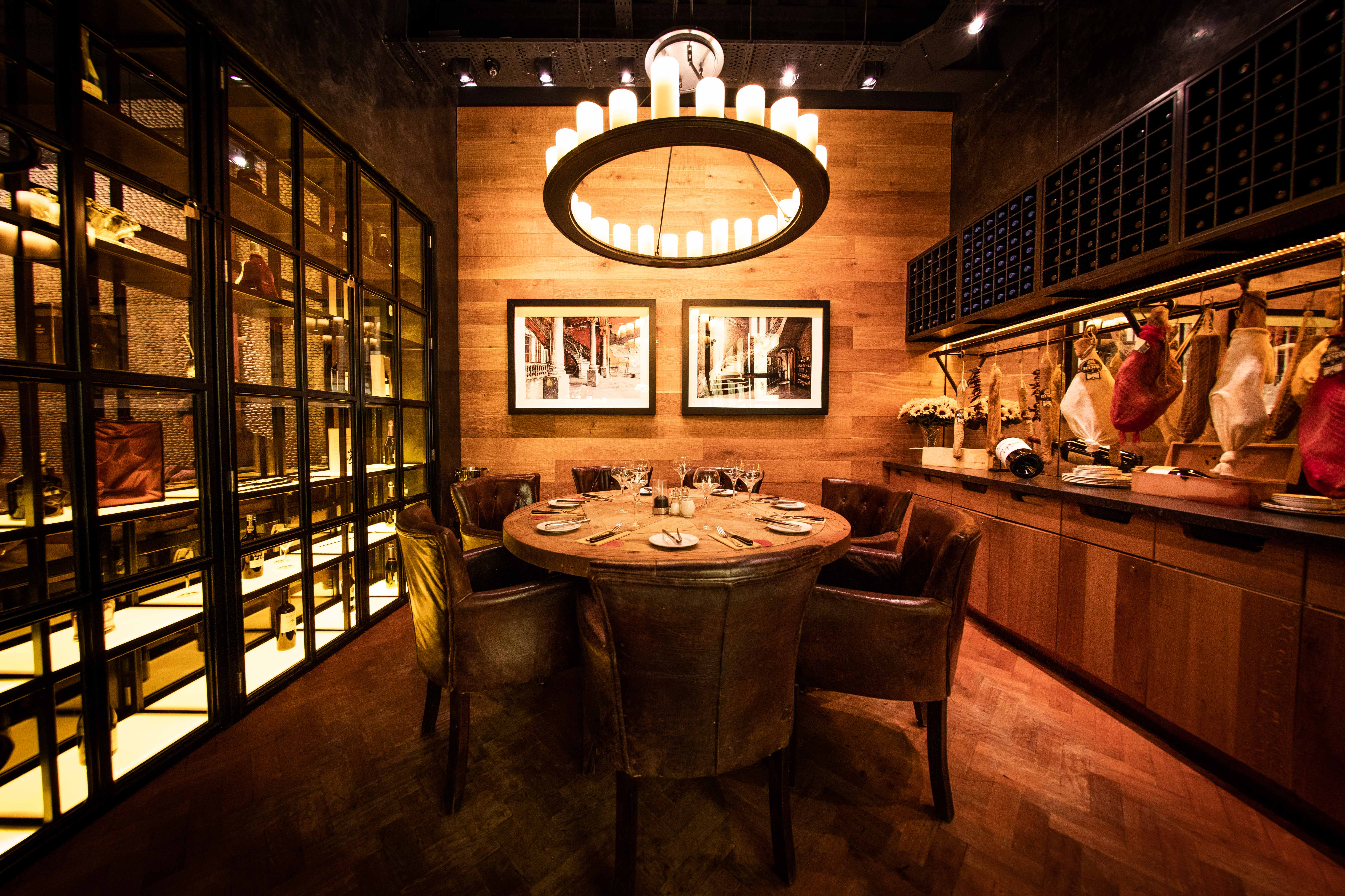 One of Fazenda Manchester's private rooms