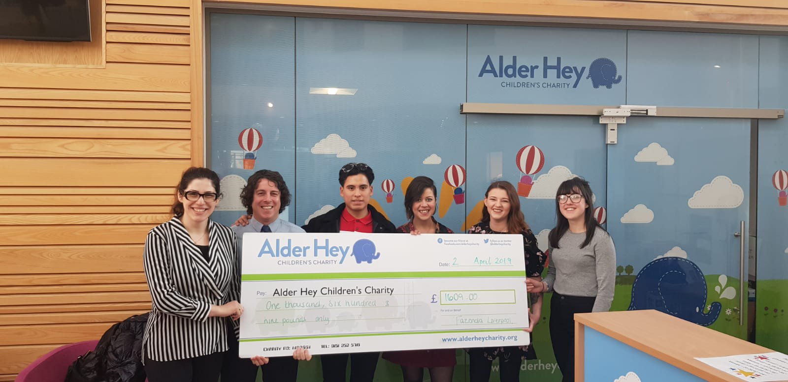 Julia with some of the Liverpool Team at Alder Hey