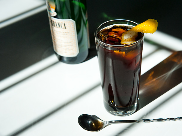 A classic example of a fernet & coke
