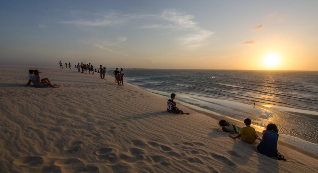 Watching the sunset from the 'Sunset Dune'