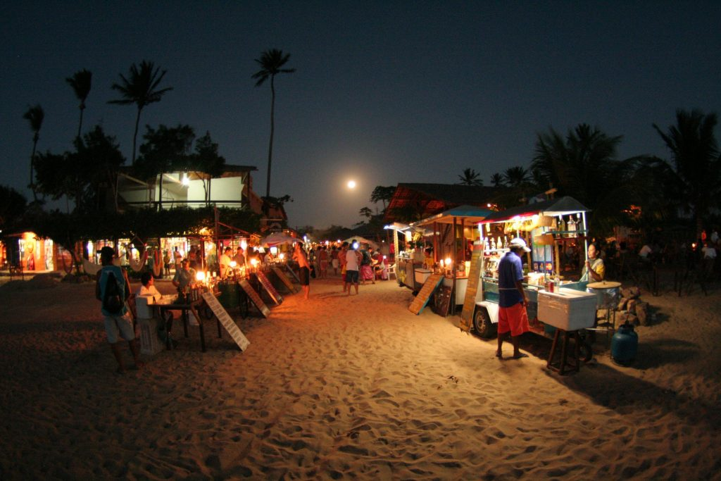 Jericoacoara streets at night time. Image credit: Backpacking with Chad
