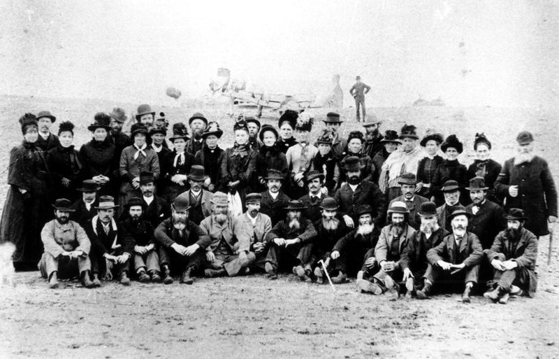 Some of the first Welsh settlers to arrive in Patagonia