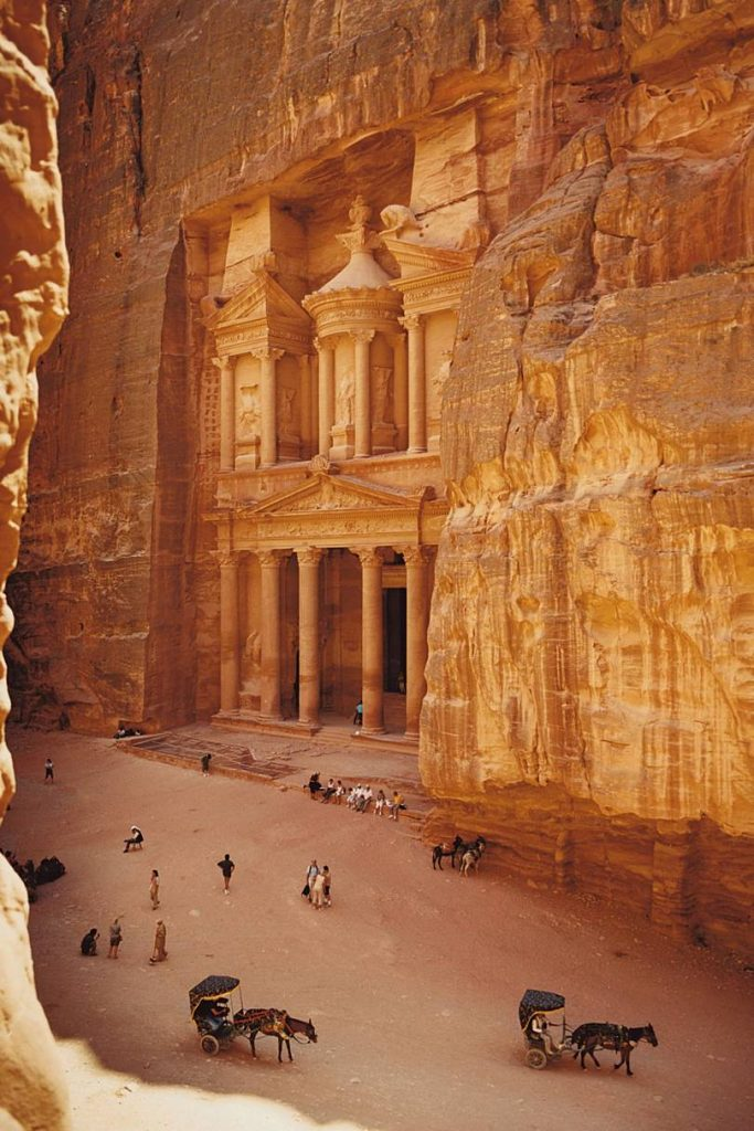 Famous entrance to the monastery of Petra. Image credit: Condé Nast Traveller