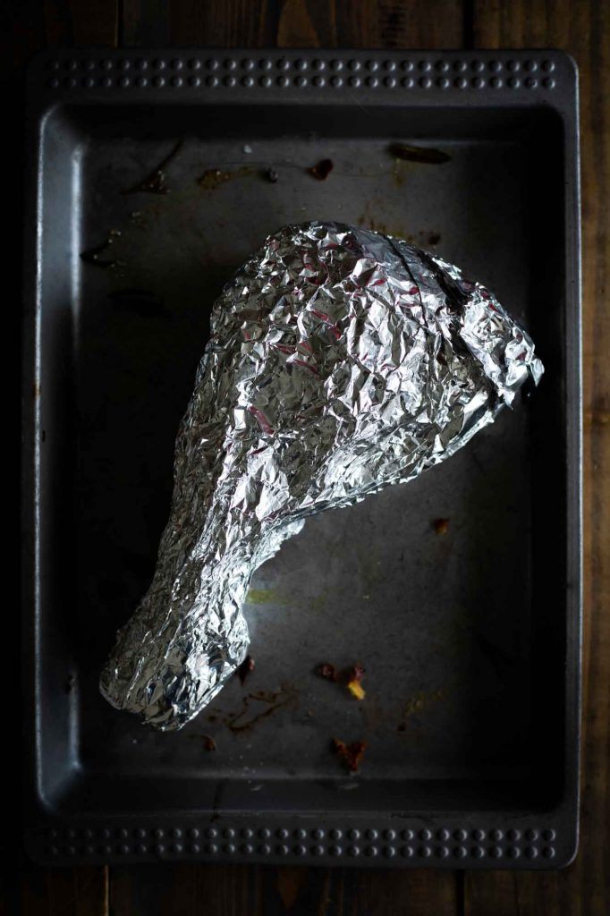 Make sure cling wrap is tight, then wrap in foil