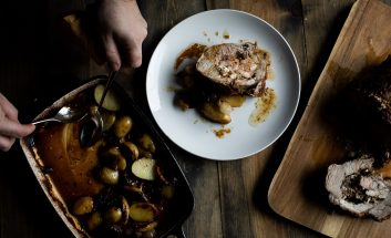 How to Make: Stuffed Pork Collar with Mushrooms & Cheese